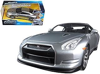 Brian`s Nissan GTR R35 Silver Fast & Furious Movie 1/24 Model Car by Jada
