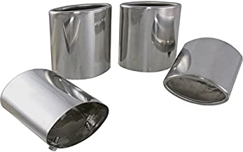 Eckler's Premier Quality Products 25-112328 - Corvette Exhaust Extensions Stainless Steel Oval Tip