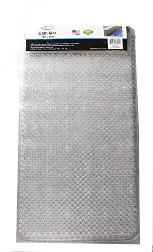 All For You Soft Anti-Slip Shower Tub Grass Massage Bath Mat (Clear)-BPA, Latex, Phthalate Free
