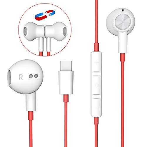 USB C auriculares, auriculares HiFi estéreo