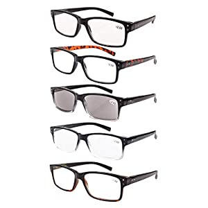 Reading Glasses 5-pack for Men and Women Includes Full Readers Sunglasses