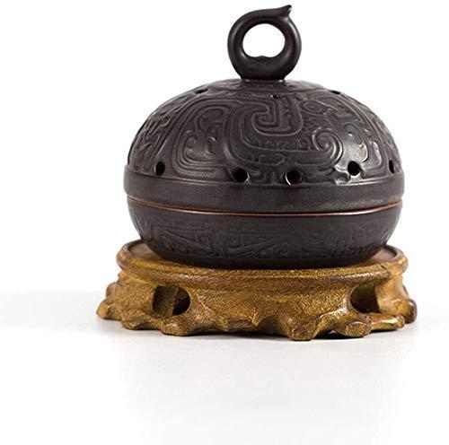 Keramik kreativer antiker Ofen Schlafzimmer Räucherstäbchen Sandelholz-Räucherstäbchen-Weihrauchhalter, 2 Xping (Color : 2)