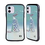 Head Case Designs Licenciado Oficialmente Paul Brent Coast Watch Ocean Carcasa híbrida Compatible con Apple iPhone 11