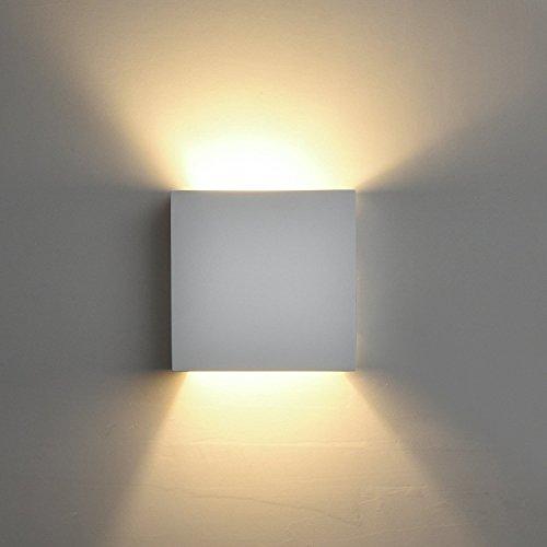 DECKEY Lampada Da Parete In Ceramica, Illuminazione Decorativa In Gesso Applique LED Up Down, Luce Effetto Interno Linee Di Disegno Moderno Semplice (03)