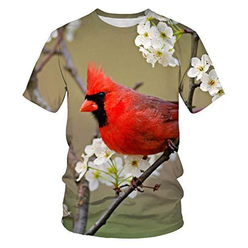Camiseta Unisex En 3D,Suelta,Informal,De Manga Corta,Chándal,Camisetas con Cuello Redondo,Camiseta para Hombre,Traje De Pareja,Pájaro Animal,XXXL