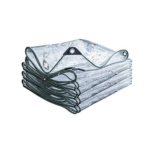 Lona Transparente 0.5mm SúPer Grueso Al Aire Libre Lonas Impermeables, Lona De ProteccióN, para BalcóN, Planta, Toldo, Tela De PláStico Resistente A La Lluvia para JardíN(4x4m(13.1x13.1ft))