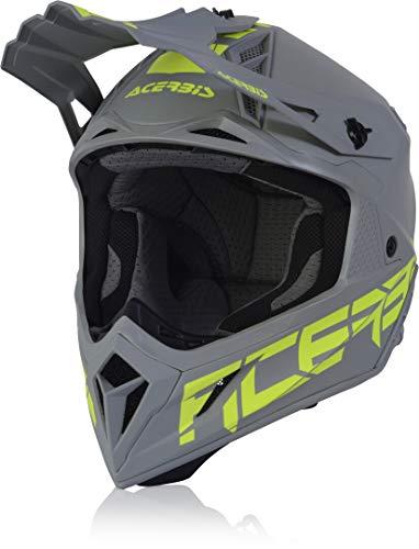 Acerbis Steel Carbon Casco Motocross Grigio chiaro M (57/58)