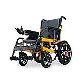 MJY Silla de ruedas eléctrica inteligente Plegable Luz plegable Ancianos Ancianos Discapacitados Scooter Automático Plegable Sillón eléctrico 30Km ghk / 30 km
