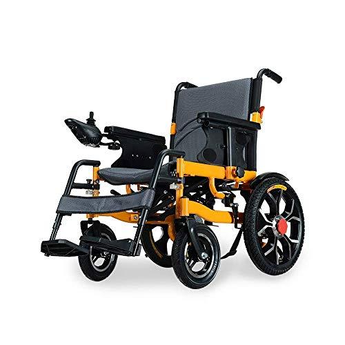 Jylybmq Silla de Ruedas Plegable Asistencia de Movilidad compacta, Silla de Ruedas eléctrica Liviana, Scooter médico portátil