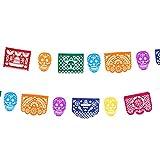STOBOK 1 Set Banner Fieltro Papel Picado Día De Los Muertos Guirnalda Colgante Banderín Día De Los Muertos Decoración para El Festival Mexicano