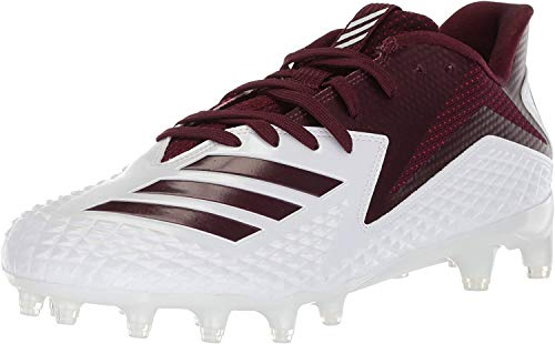 adidas Men's 5 Star Football Shoe, White/Maroon/Maroon, 18 M US