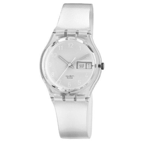Swatch - Reloj de Caballero de Cuarzo, Correa de plástico Color Blanco