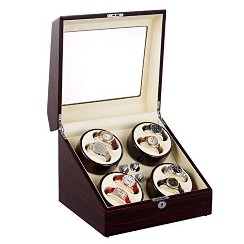 Uhrenbeweger für 8 Automatikuhren, Luxury Classic Piano Paint Watch Winder Display Box mit super leisem Motor und 5 Rotationsmodi, Red