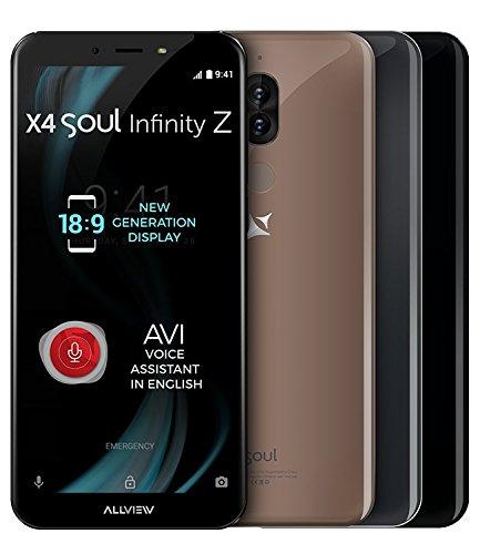 Allview X4 Soul Infinity Z 18:9 Bildschirm Dual Camera 4GB RAM OctaCore Smartphone Mocha Gold