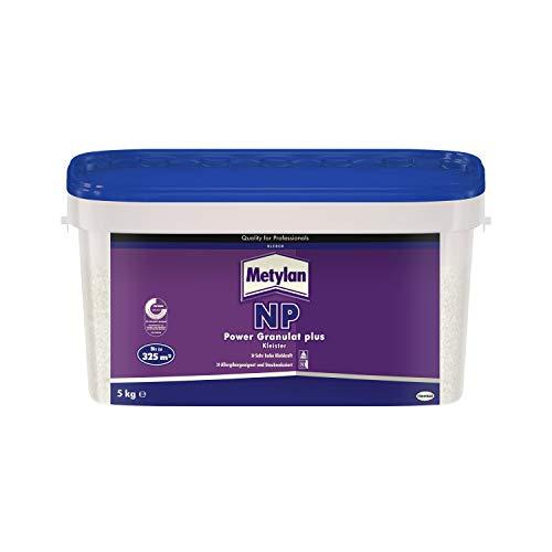 Metylan NP Power granulaat plus lijm; zeer hoge kleefkracht, geschikt voor mensen met allergieën en stofverminderd, 5 kg