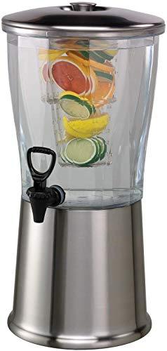 TableCraft Getränkespender aus Edelstahl & Zapfhahn 12 Liter, Limonaden-Spender, BPA frei
