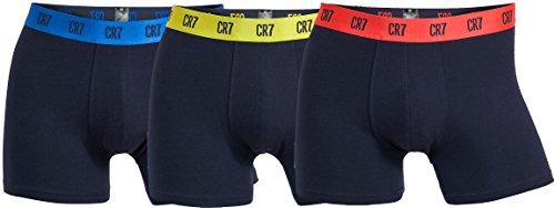 CR7 Herren hautenge Boxershorts 3er Pack, Trunk, Stretch-Baumwolle, Schwarz, Gr. Xl, 8100-49-632