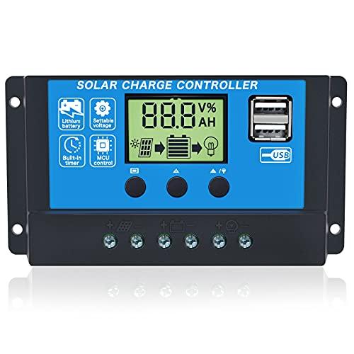 Gdcreestar Solar Charge Controller USB 12V / 24V Auto 10A Solar Panel...