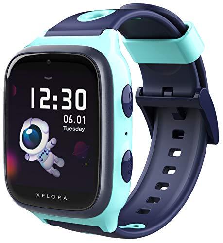 XPLORA 4 - wasserdichte Telefon Uhr für Kinder (SIM-frei) - 4G, Anrufe, Nachrichten, Schulmodus, SOS-Funktion, GPS, Kamera und Schrittzähler - 2 Jahre Garantie (XPLORA 4 TÜRKIS)