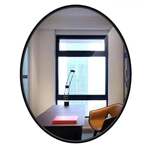 Miroir De Salle De Bains Élégant Miroir Mural Rond, Miroir En Bois Ovale Avec Bordure En Bois HD Miroir De Vanité Fixé Au Mur Pour Salle De Bains Miroir De Lavage Pour La Maison
