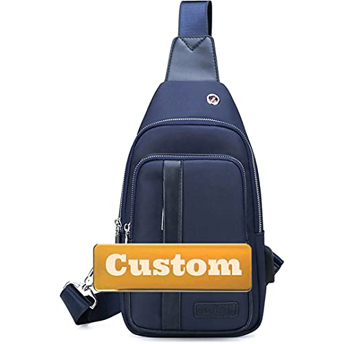 Sling de nombre personalizado para mujer Bolsa de hombro Crossbody Unisex Crossbody Mini (Color : Blue, Size : One size)
