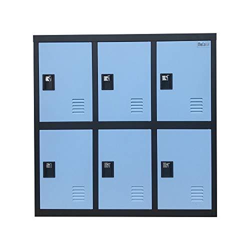 Digital Lock Metal Gym Locker Organizer with Padlock and Shelf Small Size
