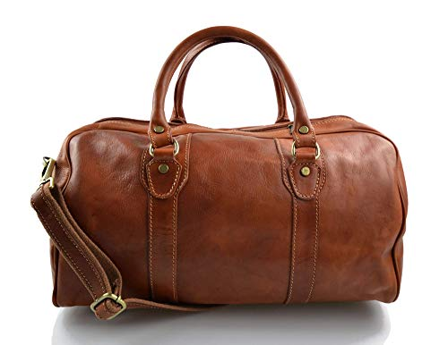 Leather duffle bag genuine leather travel bag overnight bag for men and women weekender leather bag cabin leather bag made in Italy honey