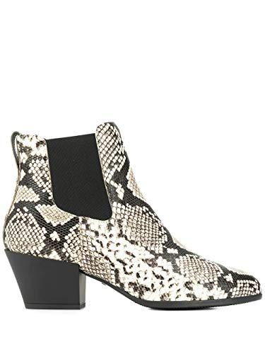 Hogan Luxury Fashion Damen HXW4010W890THYC005 Weiss Leder Stiefeletten | Herbst Winter 19