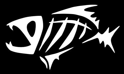 spdecals G Loomis Fish Skeleton Car Window Vinyl Decal Sticker (white, 7')