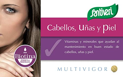 Complemento alimenticio Multivigor Cabellos, Uñas y Piel de Santiveri: contiene 48 comprimidos (35 gr)