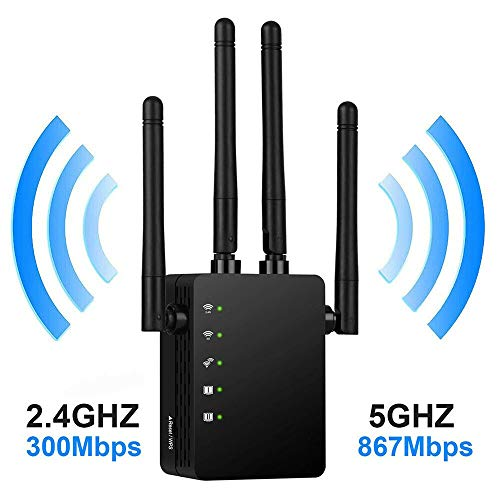 Draadloze wifi-repeater router dual-band antenne 4 WiFi range extender wifi-router, AU plug adapter, A