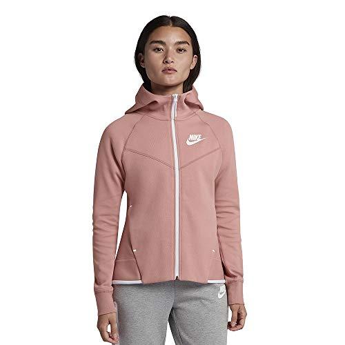 Nike Women's Tech Fleece Hoodie Pink White 930759-685 (XS)
