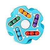 Zhixing Finger Gyro Ball Magische Scheibe Rubik's Cube Lernspielzeug für Kinder Denken und Logik-Training,Blau