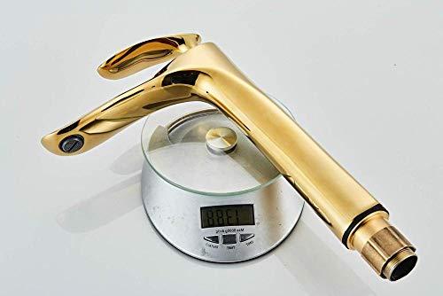 YXDOO Grifo para fregadero de cocina, caño alto, color dorado