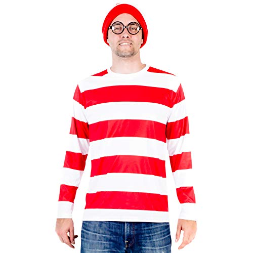 Where's Waldo DELUXE Costume Set (Adult X-Small)