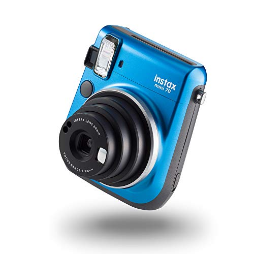 Fujifilm Instax Mini 70 - Cámara analógica instantánea, 10 hojas, color azul (importado)