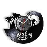 Reloj de Pared con Disco de Vinilo Sea Surf Reloj de Deportes...