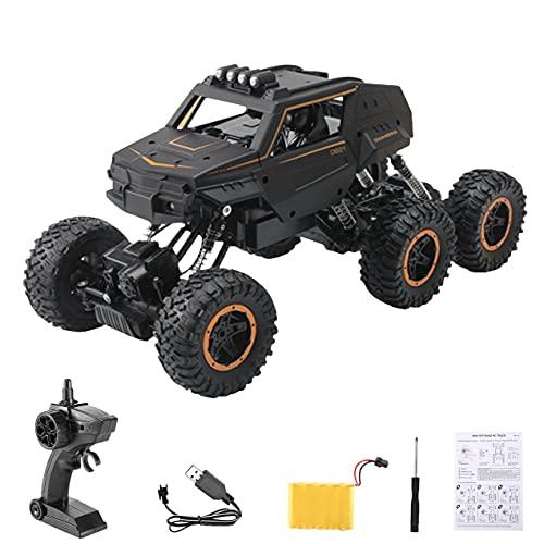 Hanone 1:12 2.4G tamaño Grande 39CM RC Car 6WD Oruga de Control Remoto con luz Todoterreno camión de Alta Velocidad Juguete para niños D821 D824 D823