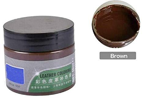 OPJWQN Advanced Leather Repair Gel, Lederreparatur-Cremefüller, Reparaturset für flüssiges Leder mit 8 verwandten Werkzeugen - Für Autositze, Sofas, Reparatur von Ledermänteln (Brown)