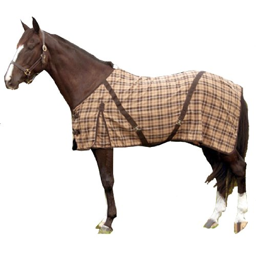 Intrepid International Horse Day Sheet, Brown Plaid, 87