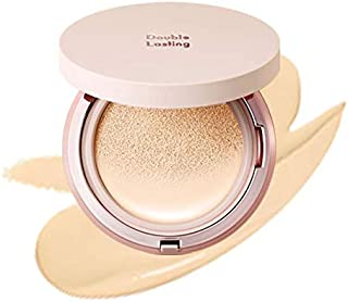 ETUDE HOUSE Double Lasting Cushion Glow (N19 Neutral Vanilla) SPF 50+ PA+++| 24-Hours Lasting Cushion with a Radiant Natur...