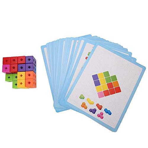 Zerodis Les Enfants assemblent des Blocs de Construction de Briques colorées 3D Tetris Jouets éducatifs de la Petite enfance