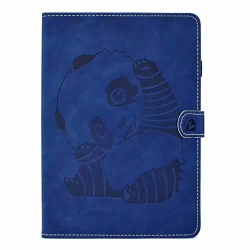 Hoesje voor Samsung Galaxy Tab A 10.5 Case T590 T595 T597 2018, Auto Sleep/Wake PU lederen schokbestendige Tablet Case Panda met Stand Card Slots Magnetische Sluiting Back Shell Beschermhoes Blauw