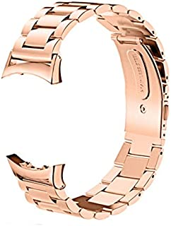 CLSY Compatible with Gear Fit 2 Strap, Stainless Steel Loop Metal Band with Butterfly Clasp Replacement for Gear Fit 2 Pro (SM-R360 & SM-R365) Smart Watch (Rose Gold)