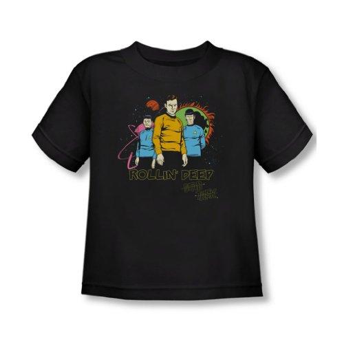 Star Trek - - Toddler Rollin T-Shirt Deep In Noir, 4T, Black