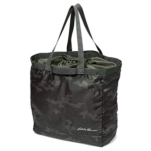 Eddie Bauer Unisex-Adult Stowaway Packable 25L Cinch Tote, Camo Regular ONE SIZE