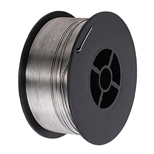Alambre de soldadura E71T GS 0 8mm 1 kg Aleación Sin gas núcleo Soldadura Soldadura Spool Silver 1roll, Hardware Herramientas