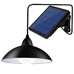 Bemexred Solar Lights Outdoor/Indoor,Remote Control Solar Powered Pendant Lights IP65 Waterproof,Auto On/Off Hanging Shed Lamp Dusk to Dawn for Barn Gazebo Storage Room Balcony Chicken Coop