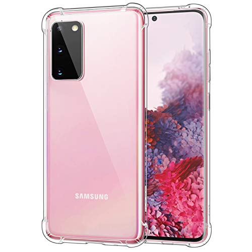 MoKo Compatible with Samsung Galaxy S20 Case, Clear Reinforced Corners TPU Bumper + Anti-Yellow Transparent Hard Panel Cover Fit Galaxy S20