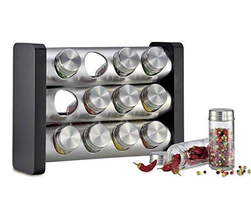 Küchenprofi KP2617502812 Présentoir à épices KP2617502812 en acier inoxydable 18/8